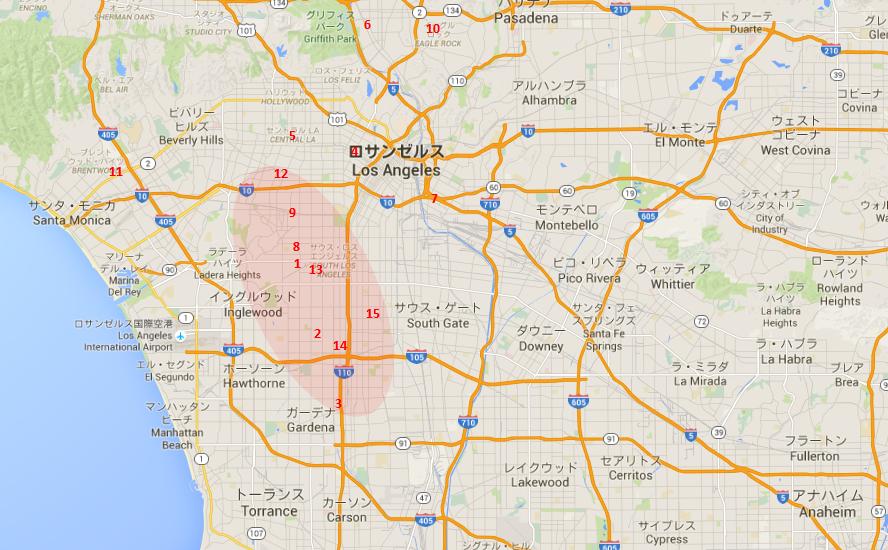LA 犯罪マップ