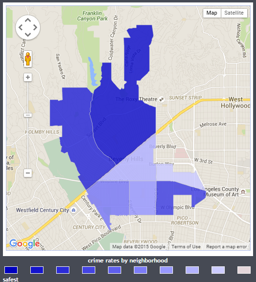 beverly hills crime map