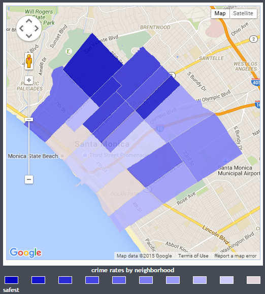 santa monica crime map