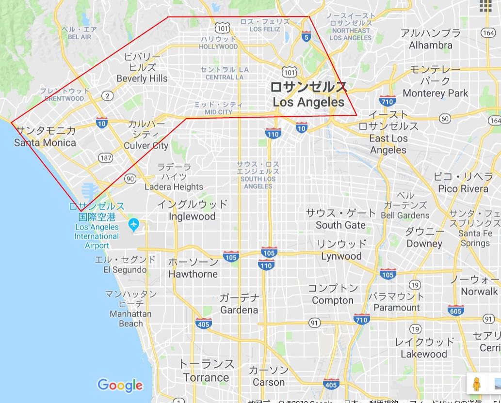 ロサンゼルスマップ